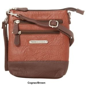 Brown Leather Stone Mountain 3 Bagger Handbag